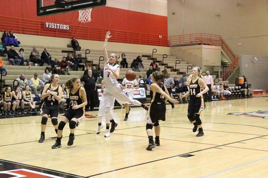 Girls' Basketball Wins a Close One on Senior Night