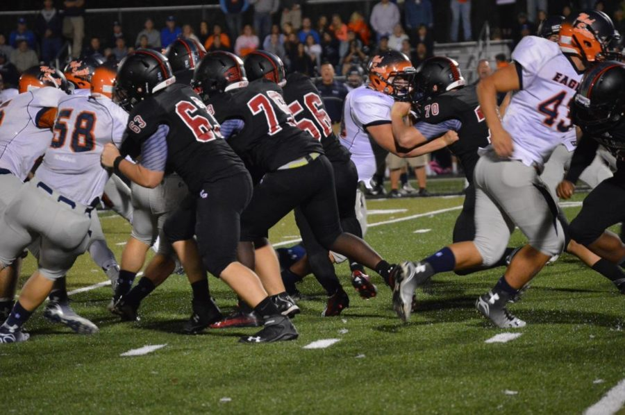 The Dunbar Bulldogs take on the Madison Southern Eagles at the Homecoming game on Sept. 12, 2014.