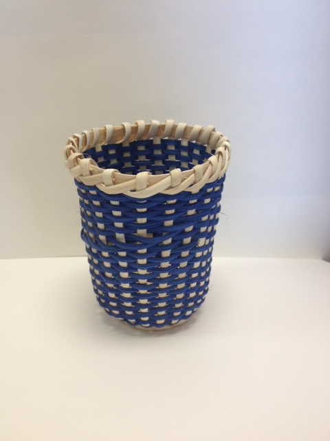This is an example of a basket made by the creative crafts class.