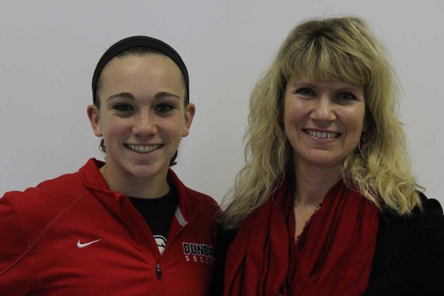Senior Alyssa Montgomery appreciates the perks of having mom at school.
