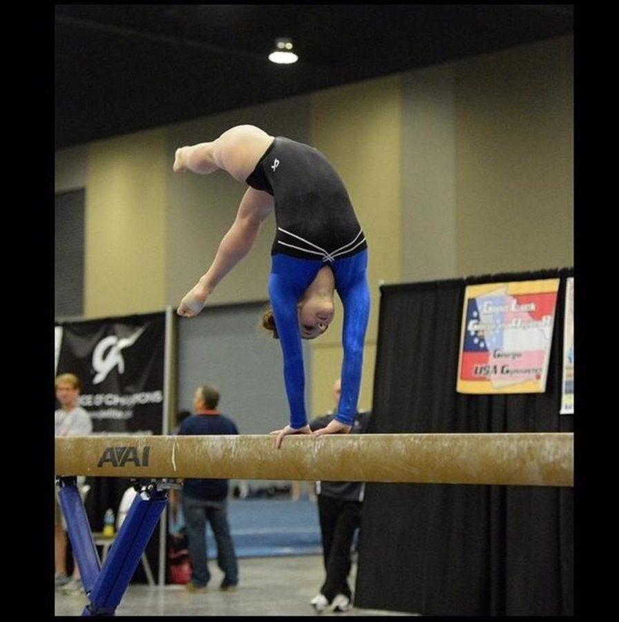 kailey miller balance beam gymnastics