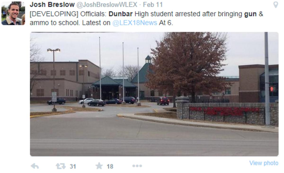 Dunbar Swiftly Handles Weapon Threat