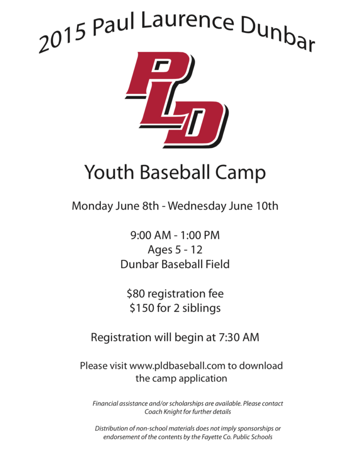 Dunbar Summer Baseball Camp