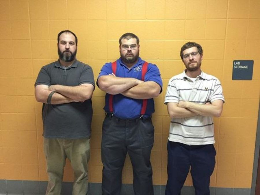 Science Teachers Mr. Turner, Mr. Howell, and Mr. Campbell