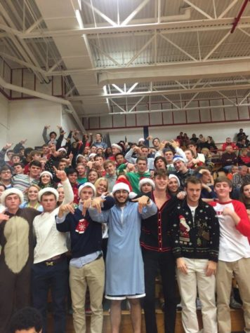 The Dawg Pound dressed in Christmas gear on Dec. 8, 2015.