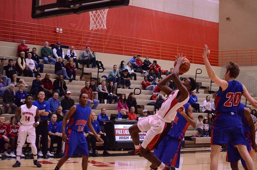 Jordan Brown goes in for a lay-up.