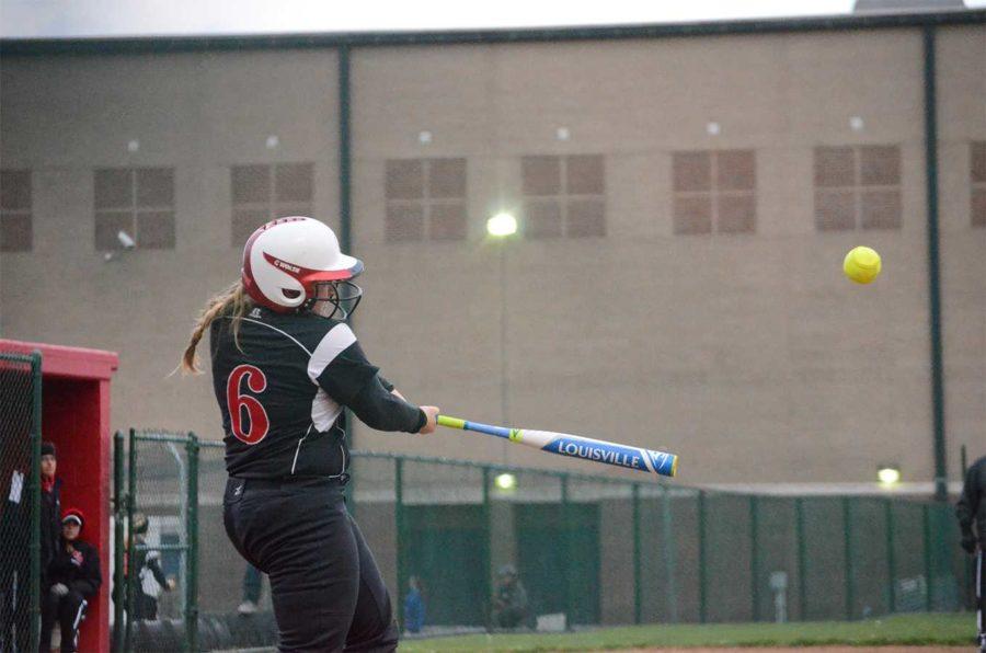Olivia Judy at bat