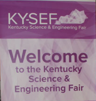 Welcome sign for KYSEF participants