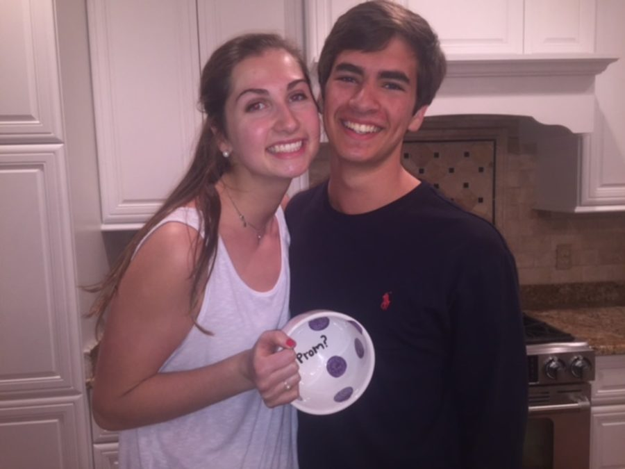 Writer Jack Stokely promposes to girlfriend Sarah Phillips with a handmade soup bowl