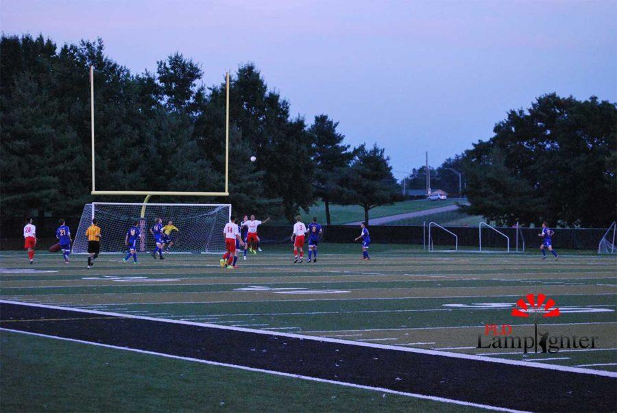 Dunbar boys soccer plays against Henry Clay