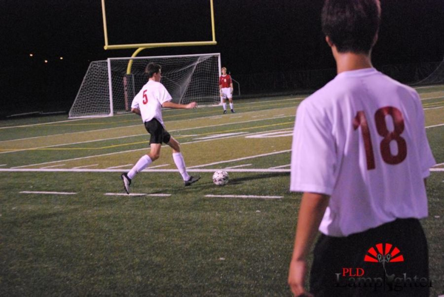 #5 Chase Dawson continues to defend Dunbar's goal