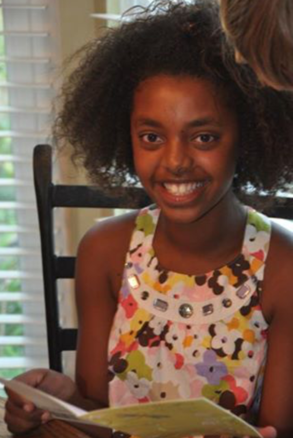 Meron celebrates her tenth (first) birthday in America.
