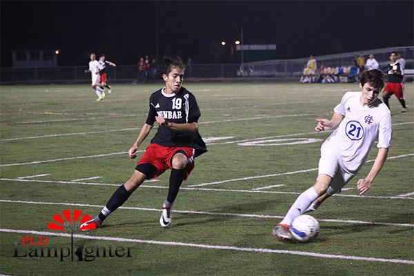 #19 Pedro Jimenez chases the ball.