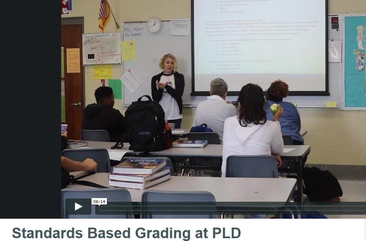 Mrs. Allison Roberts has transitioned to a new grading model based on standards.