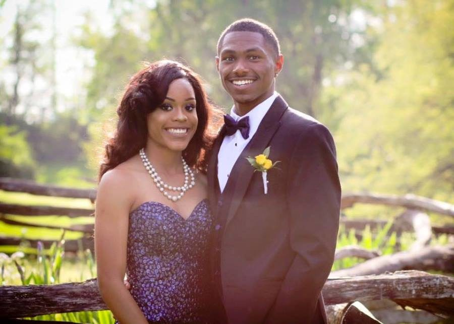 Trinity Gay was escorted to prom by Dunbar graduate Will Allen, who now attends the University of Alabama where he runs track.