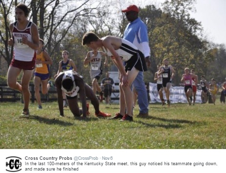 Cross Country Runner Sacrifices Race for Downed Teammate