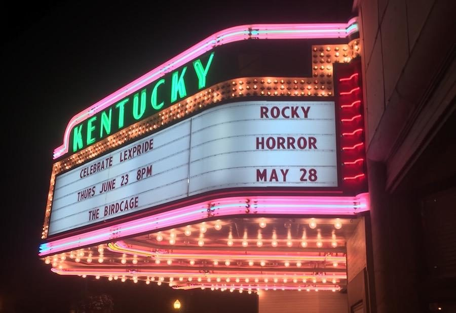 The Kentucky Theatre where the film is shown every month