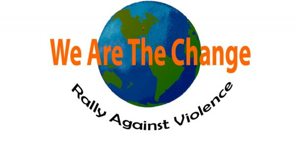 Student Andres Calleja designed the logo for the first annual We Are the Change Rally against Violence.