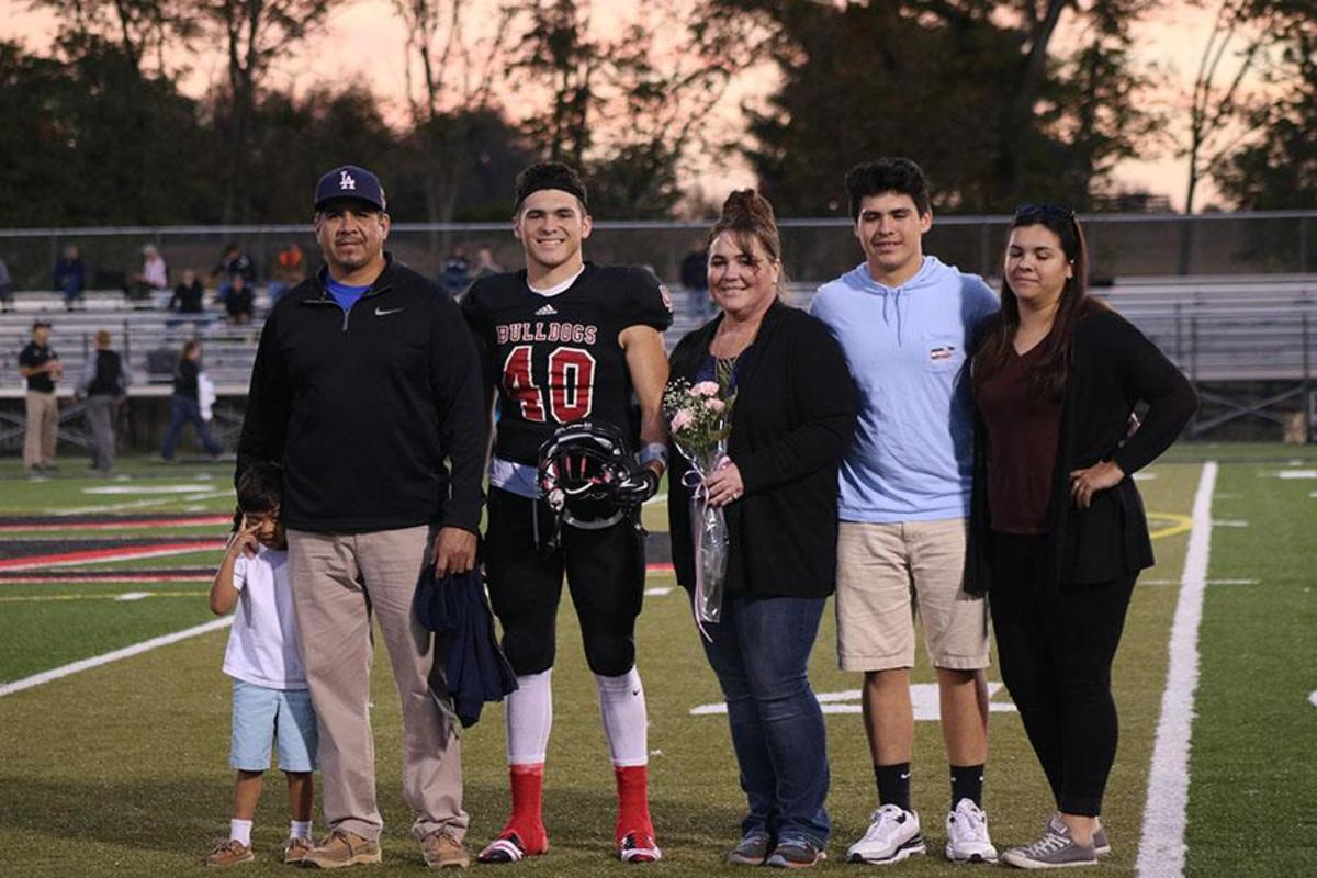Athletes Celebrate with Families on Senior Night