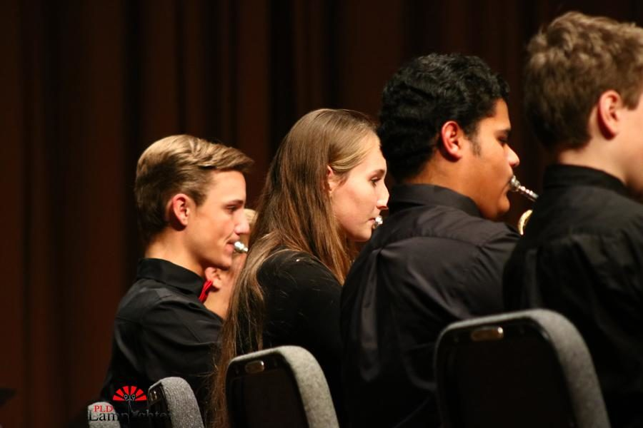 Students in the Dunbar Trumpet section during the concert.