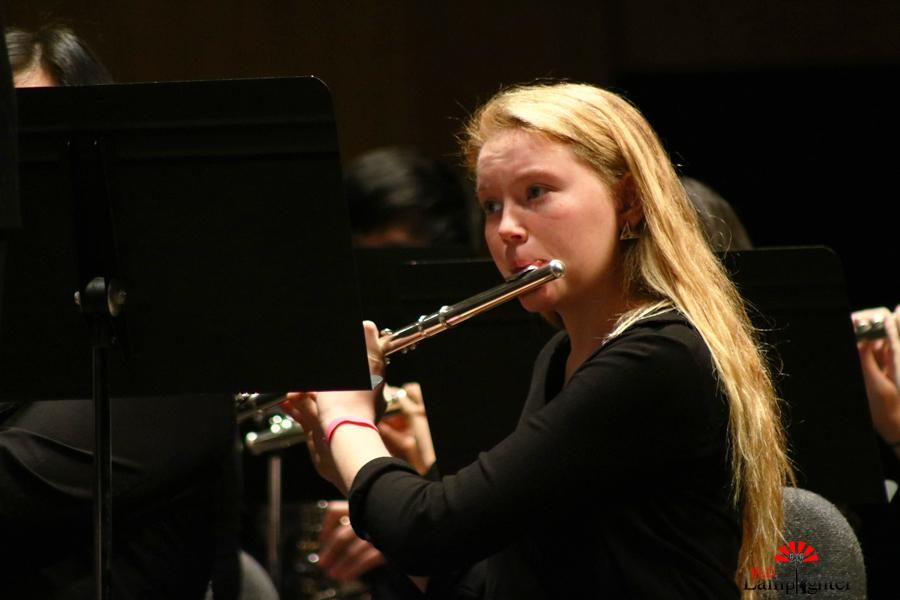 Junior Corinne Beagle plays the flute.