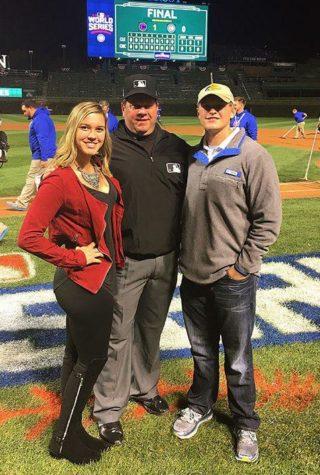 Senior Shadows Umpire Dad at World Series