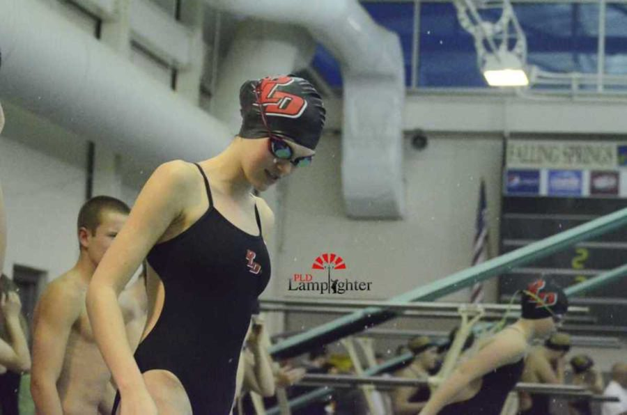 PLD swimmer prepares for her first race.