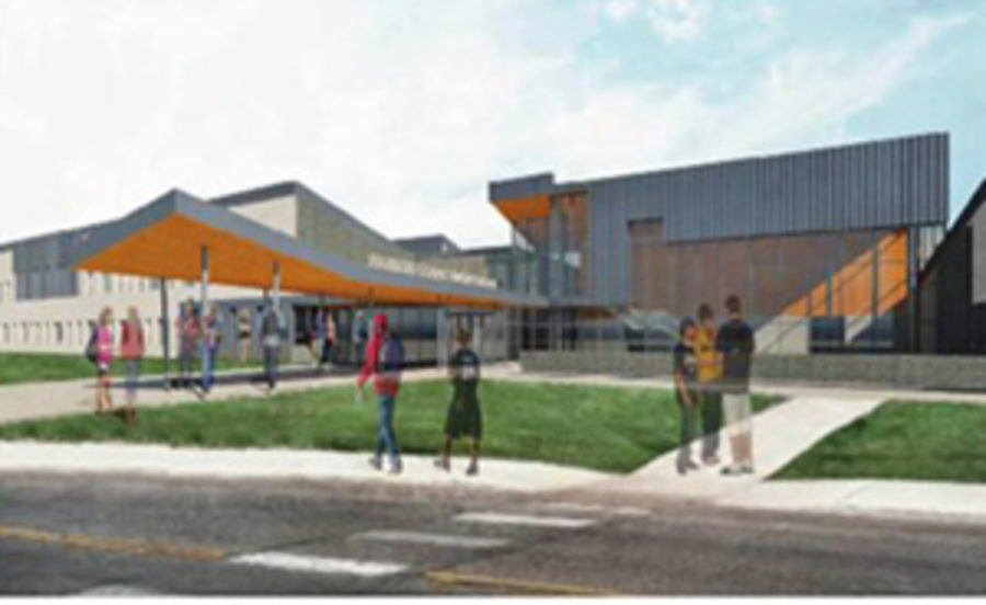 This is the projected image of a completed Frederick Douglass High School.