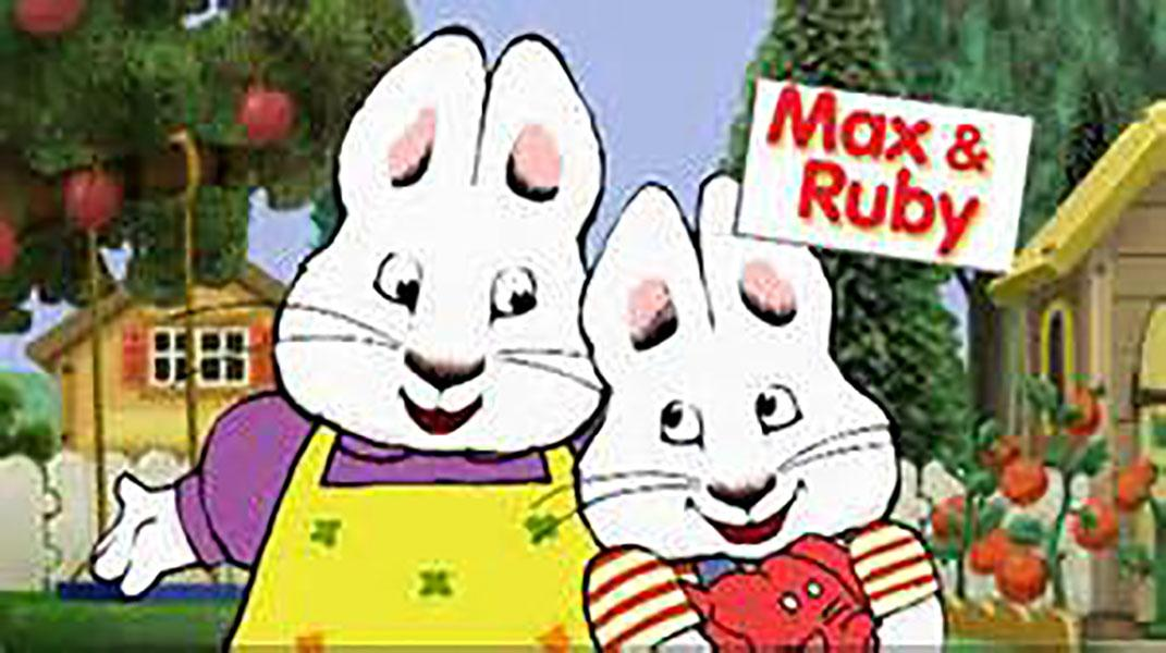 Max and Ruby in the opening theme song