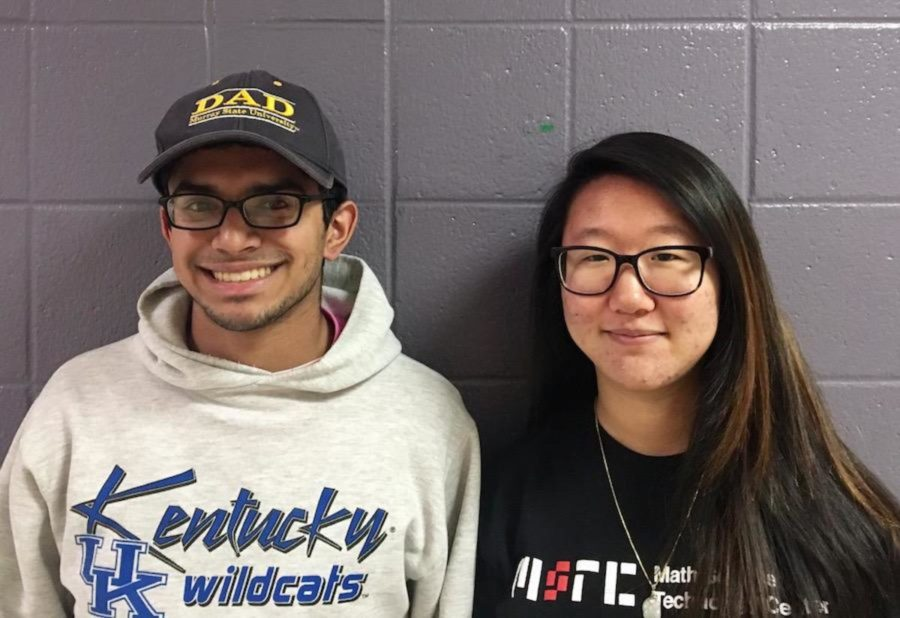 Seniors+Nisarg+Patil+and+Emily+Liu%2C+two+of+Dunbar%27s+seven+candidates.