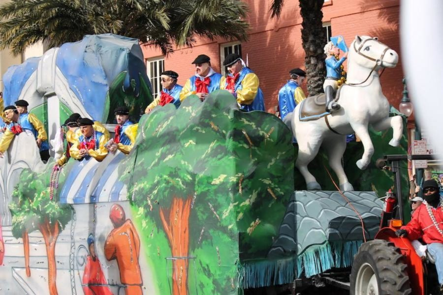 In 1856, six businessmen gathered in the French Quarter of New Orleans and founded the first Mardi Gras parade as well as the oldest krewe--the Mystick Krewe of Comus. There are now over 50 krewes in southwest Louisiana.