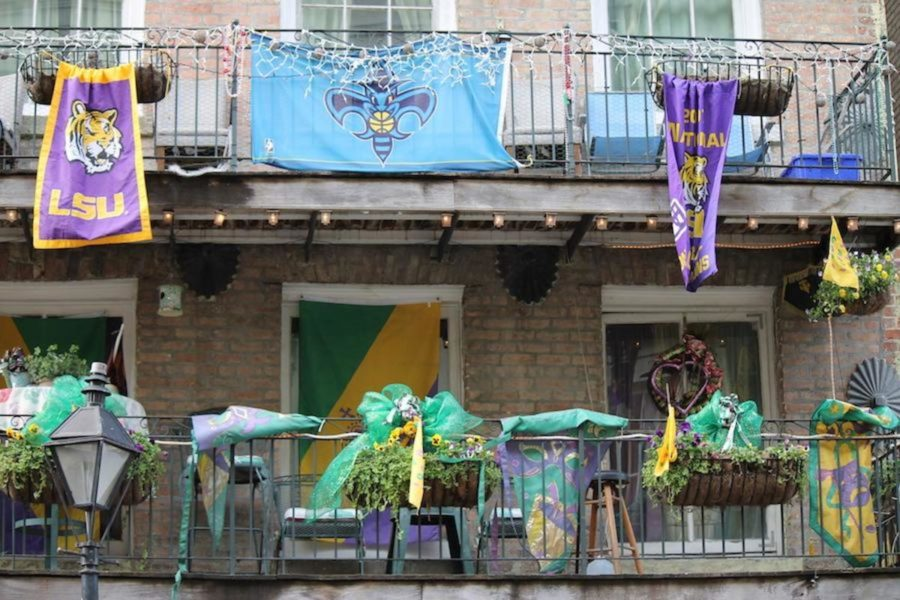The city of New Orleans is completely decked out in purple, green, and gold in the weeks leading up to Mardi Gras.