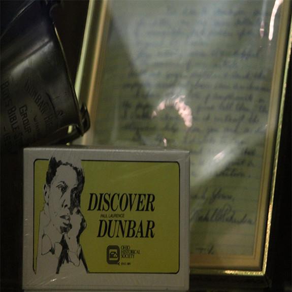 Memorabilia honoring Paul Laurence Dunbar from the original Dunbar High School is showcased in Dunbar's College and Career Center.
