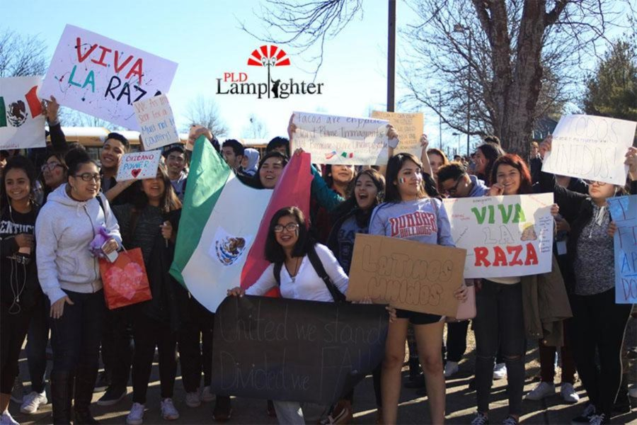 Students chanted and held posters at the rally held on Dunbars campus on Feb. 17.