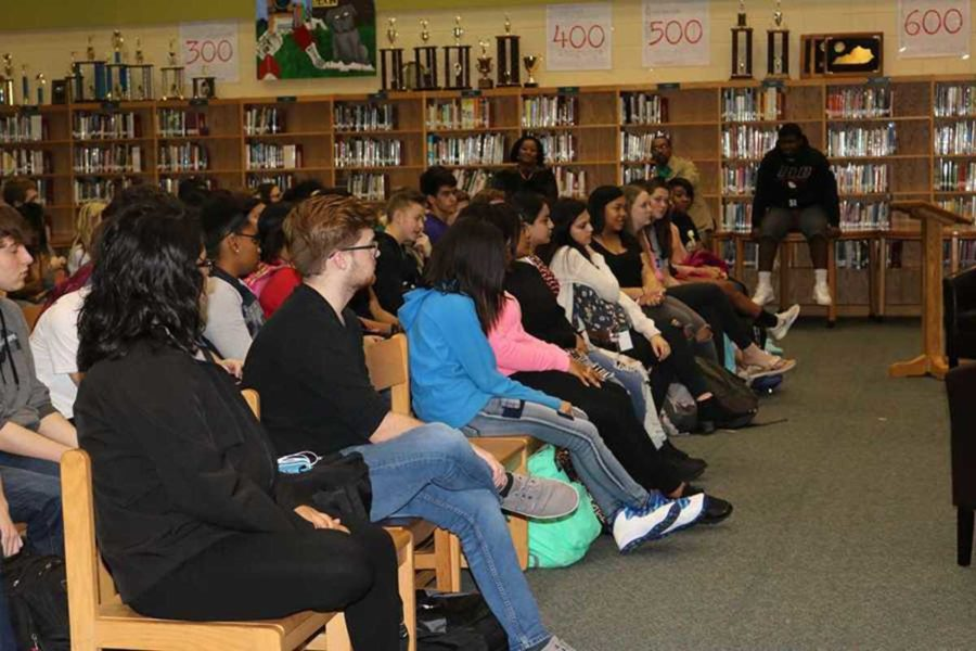Many students present to listen to the original Dunbar high school alumni who were guest speakers.
