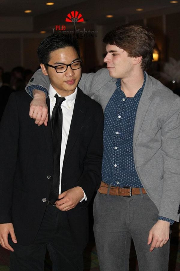 Josh Dang and Kyle Bradshaw prepare to take on the dance floor together.