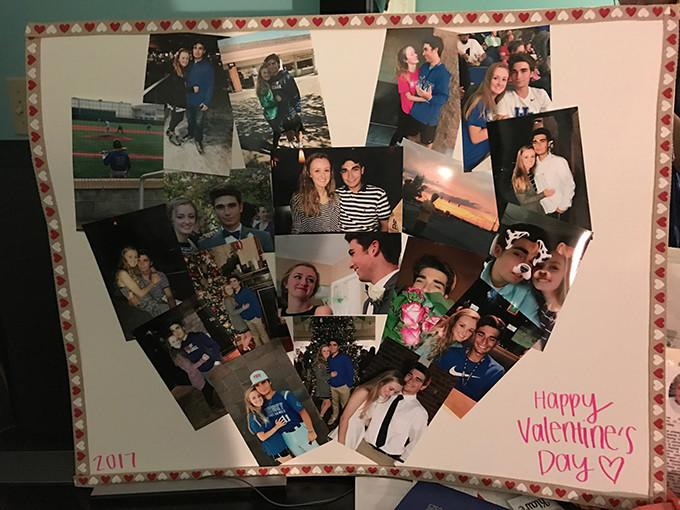 Staff Reporter Klaire Johnson made a collage for her boyfriend for Valentine's Day.