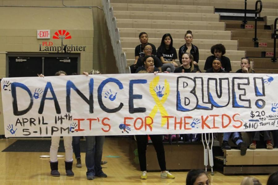 The winning poster (decorated by the Junior Class) to be hung at this year's Dance Blue.