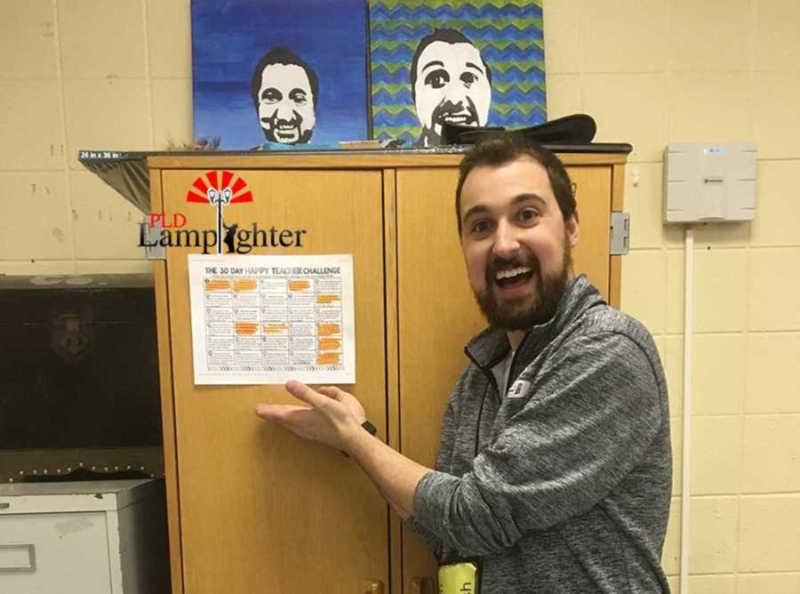 Mr. Daniel Janbakhsh will be one of many teachers who at the end of the month will win prizes for how much they have completed on their charts.