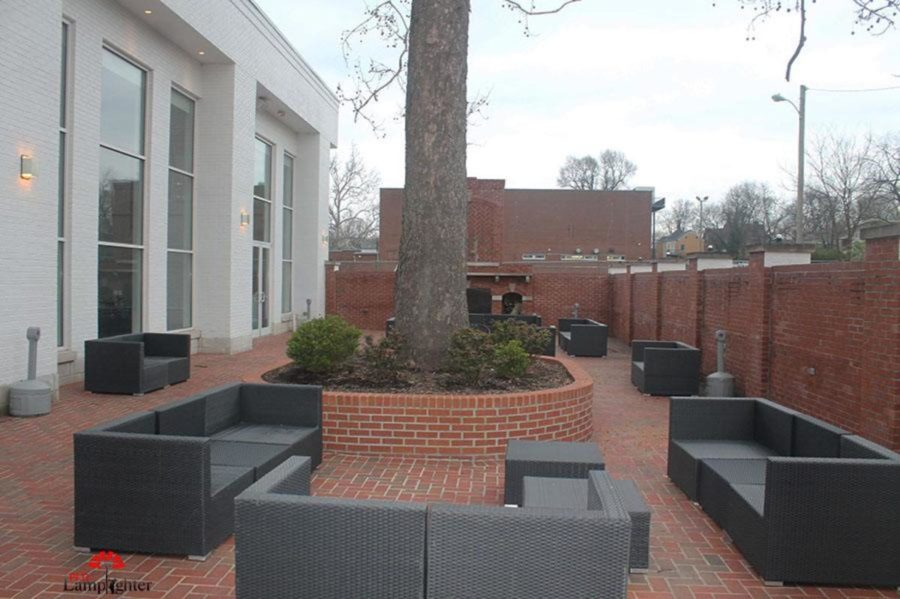 The outdoor patio at the Carrick house where prom will be held this year.