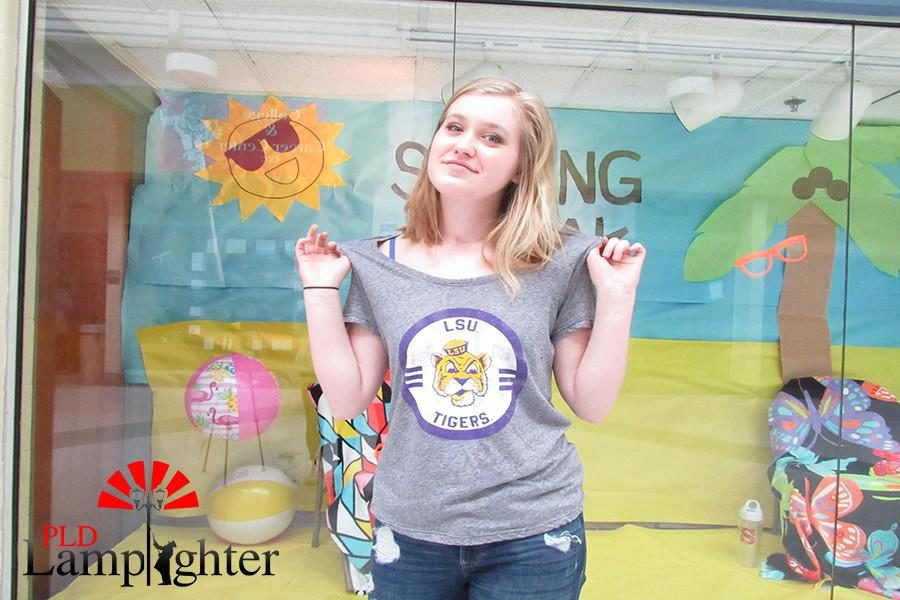 Senior Courtney Brewer has be waiting to attend Louisiana State University since she was younger.