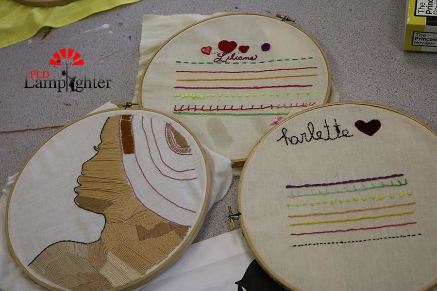 Students craft projects.
