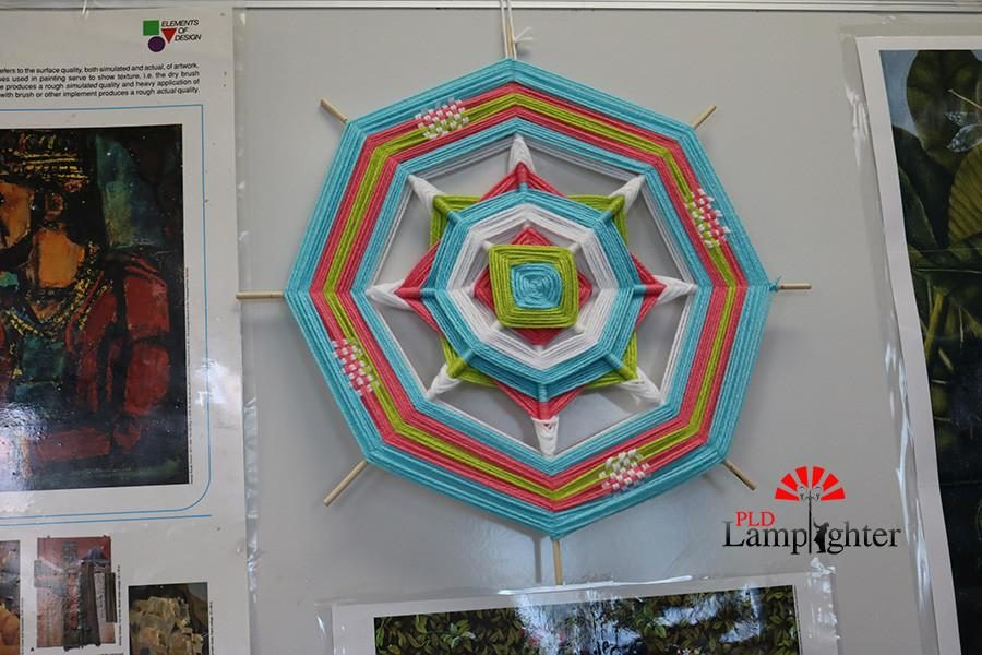 Student craft project hangs in Mrs. Banks classroom.