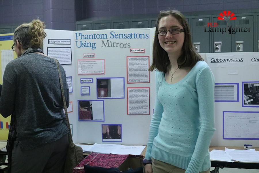 Junior Amy Cline made her project about Phantom Sensations using Mirrors.