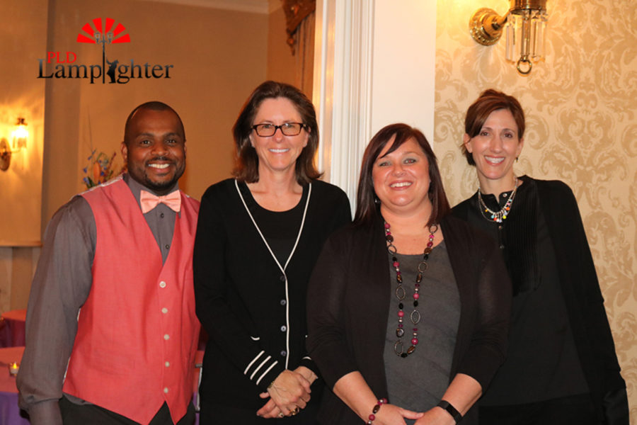 PLD Administration, Mr. Antonio Blackman, Ms. Betsy Rains, Mrs. Nancy Hill and Ms. Andrea Tinsley, at 2017 Prom at the Carrick House.