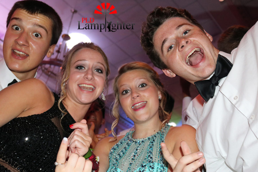 Mike Rosen, Lindsey Bravard, Rachel Fister and Jack Sheroan on the dance floor.