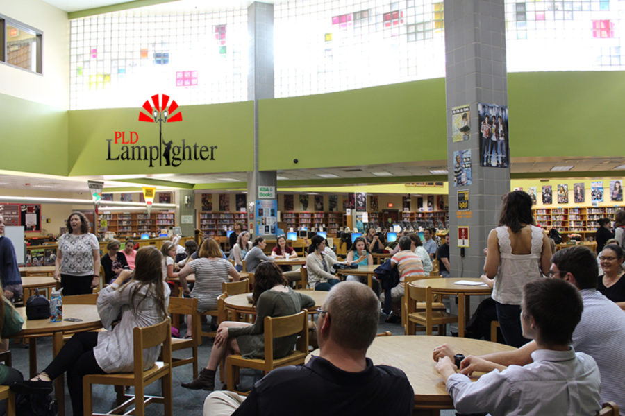 Many teachers attend the teacher appreciation event put on by students.