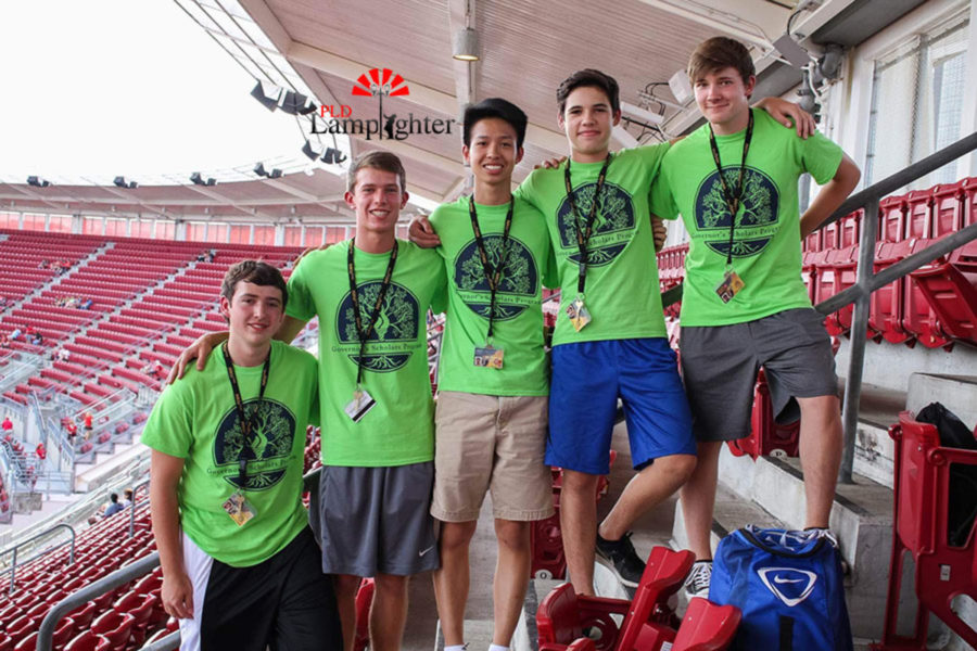 Dunbar Senior Ben Xie with other GSP students in the summer.