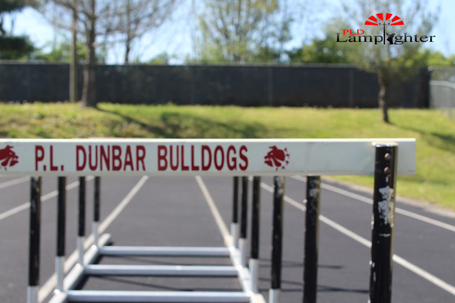 The hurdles that Dunbar athletes use to practice, as well as during meets at the school.