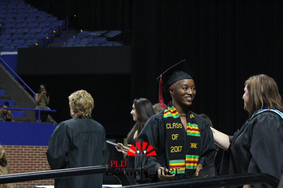 Poet Laureate Rozalyn Wingate after receiving her diploma.